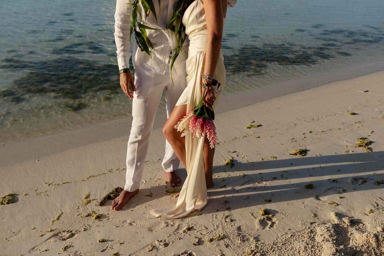 Couple barefoot