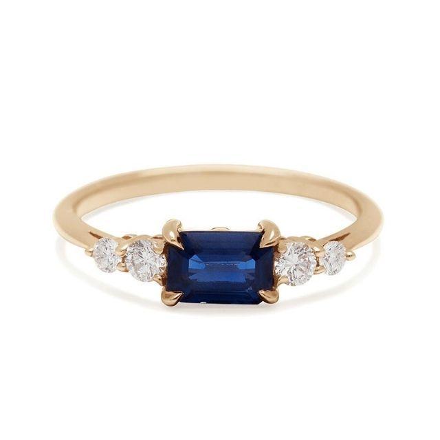 Anna Sheffield Bea Five Stone Ring