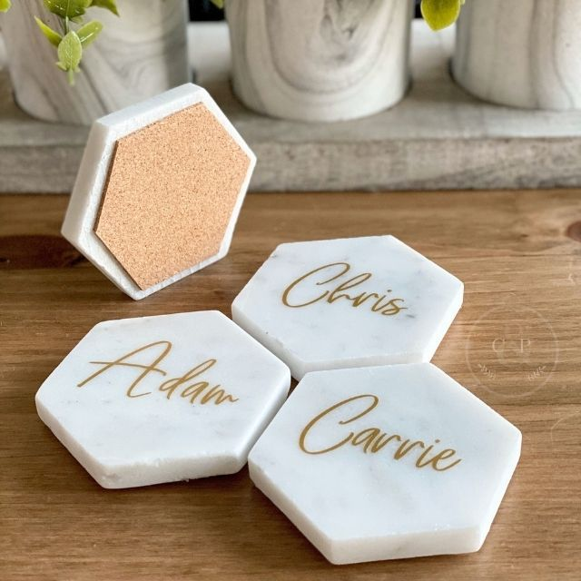 CopleyAndPine Marble Place Cards
