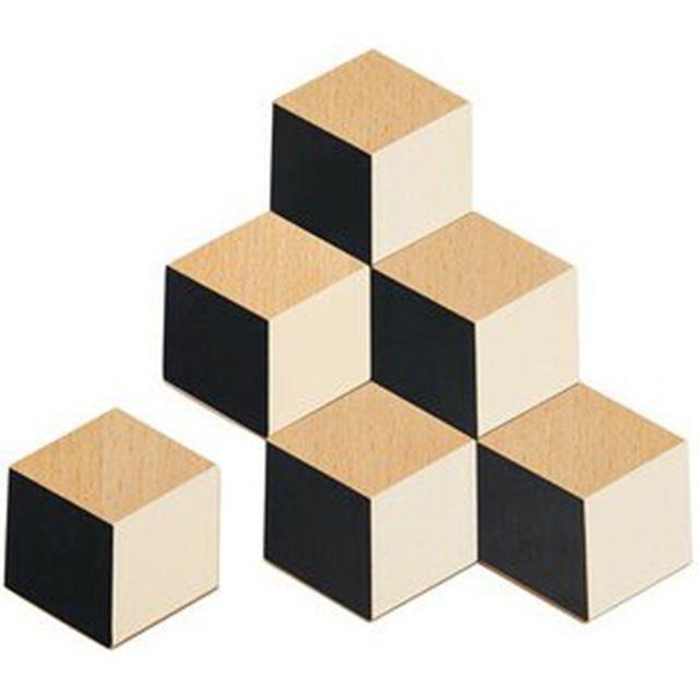 Wayfair Black/ Beige Table Tiles Coasters from Areaware