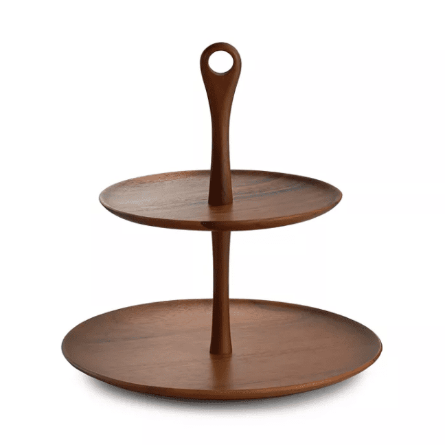 Nambe Skywood Tiered Serving Stand