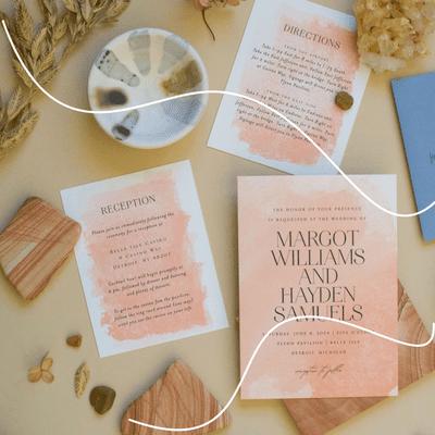 modern wedding invitation minted
