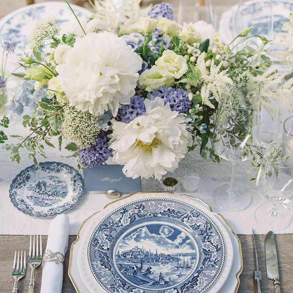 spring wedding floral centerpiece