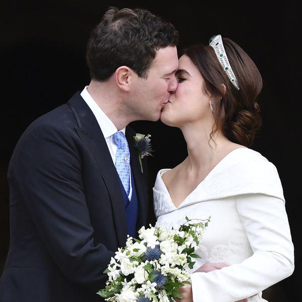 Princess Eugenie kissing husband