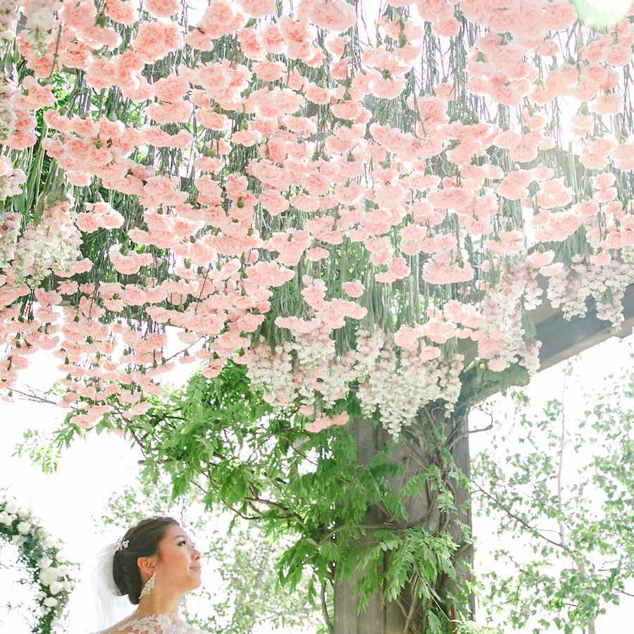 Floral hanging installation