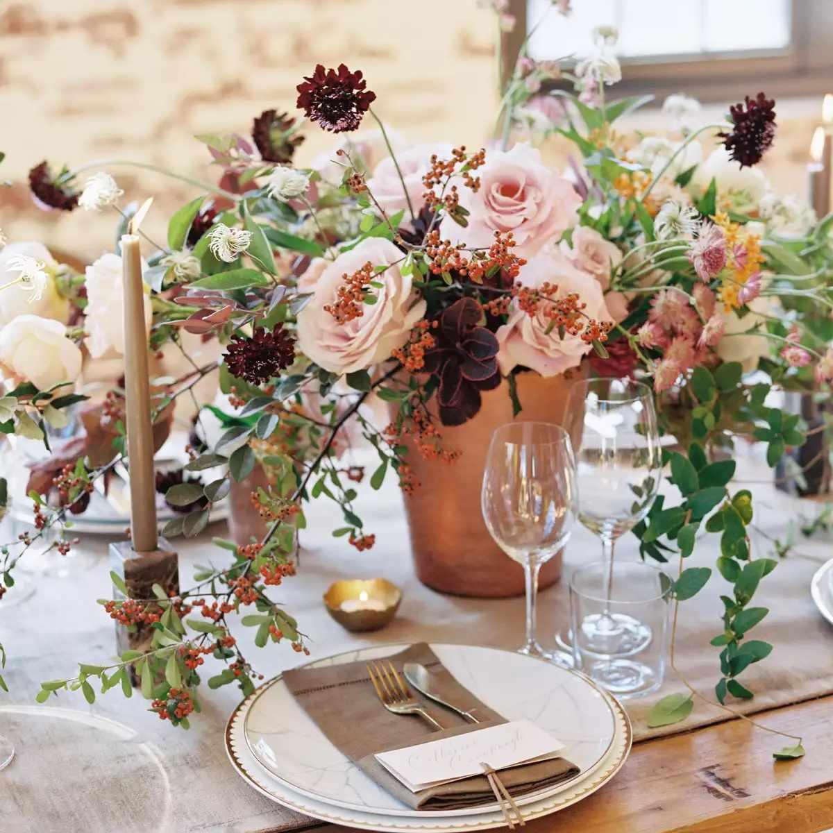 organic floral centerpiece