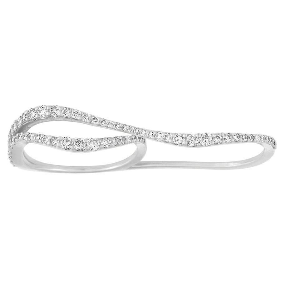 Nogama Collection Wavy Two Finger Ring $1,500