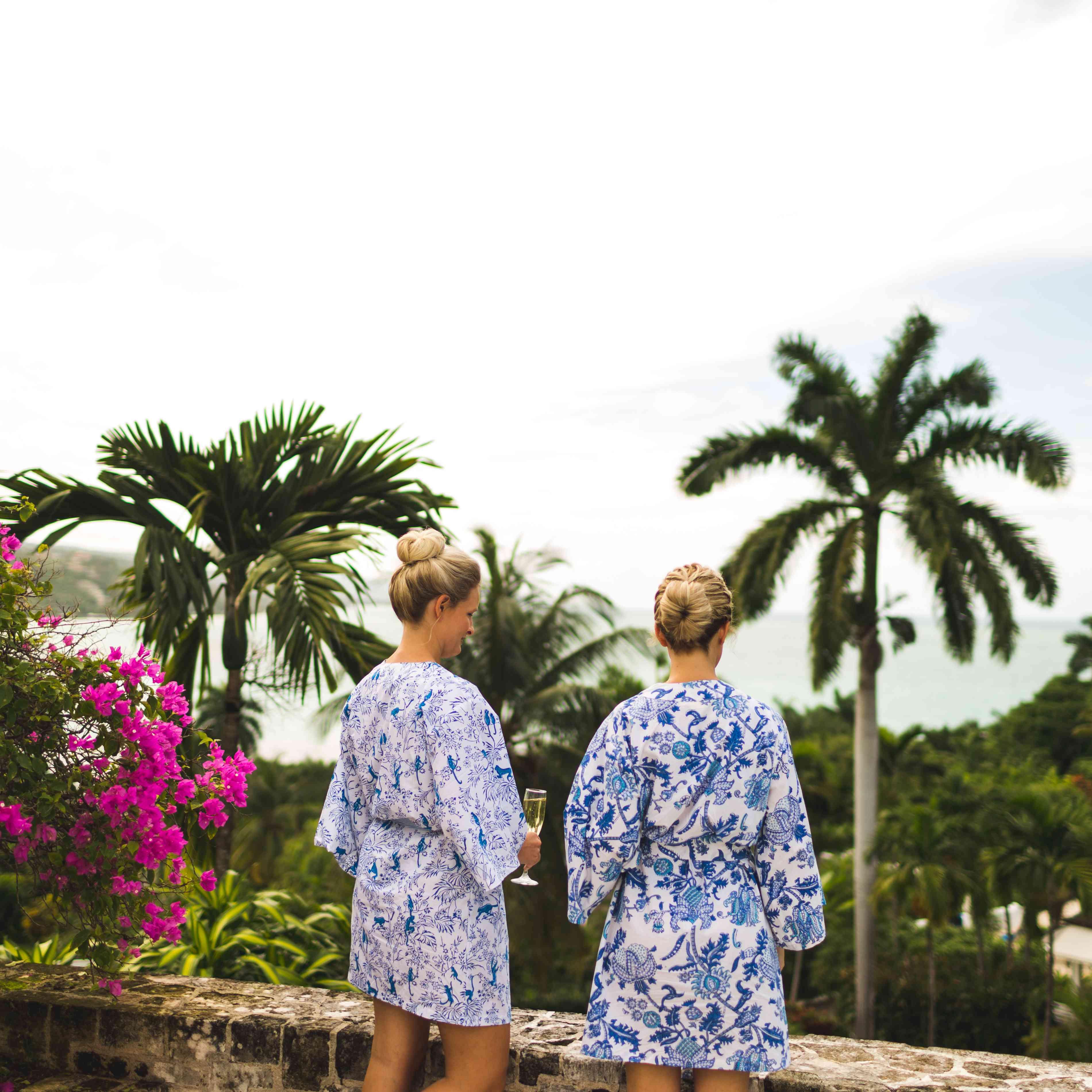 matching bridesmaids robes