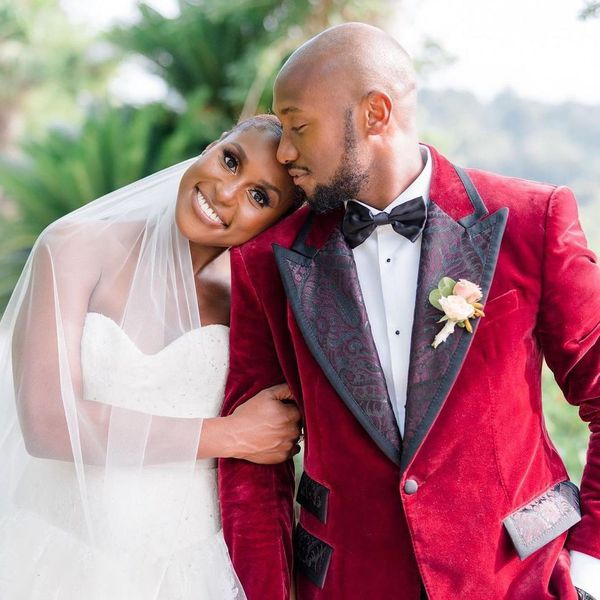 Issa Rae and husband Louis Diame on their wedding day