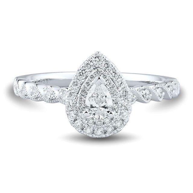 Helzberg Diamonds 1/2 Ct. Tw. Diamond Engagement Ring in 14k White Gold