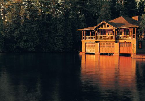 <p>The Boathouse at the Point Resort in the Adirondacks, New York</p>