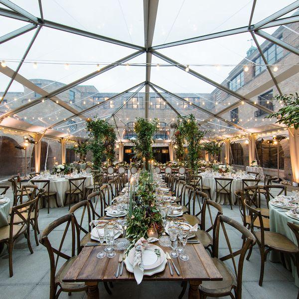 Wedding seating view