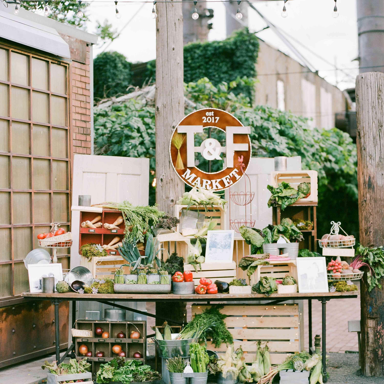 Farm-to-table wedding station