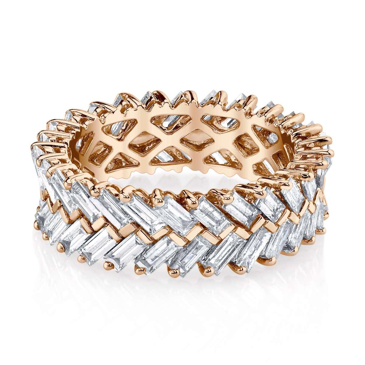 Anito Ko Zipper Ring in Rose Gold