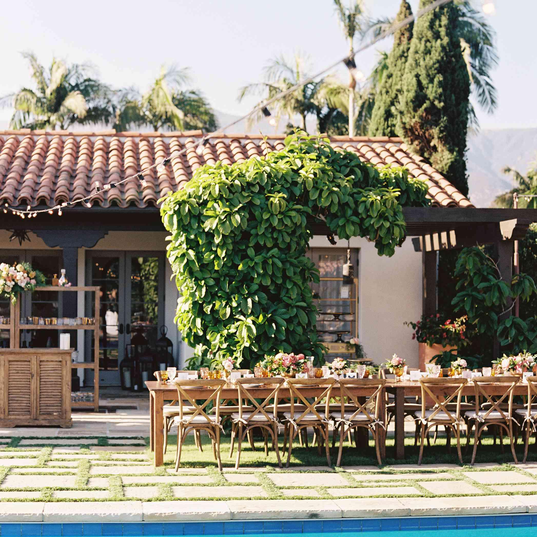 Poolside reception venue