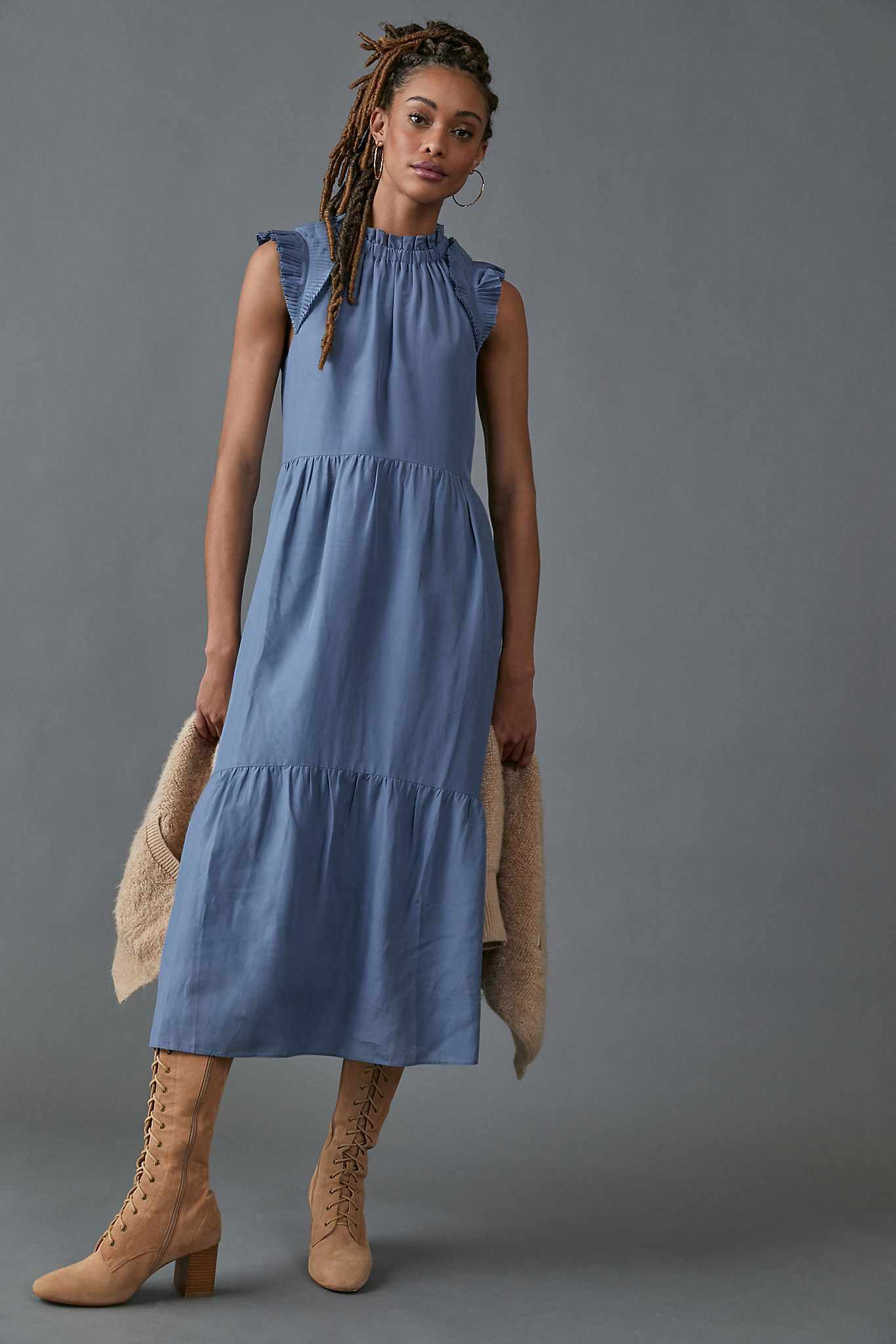 Othilia Lucena Tiered Ruffled Maxi Dress $248