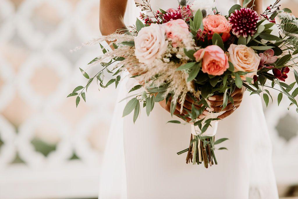 Bridal bouquet detail