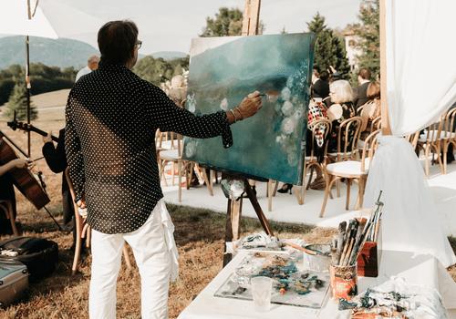 Live Wedding Painting