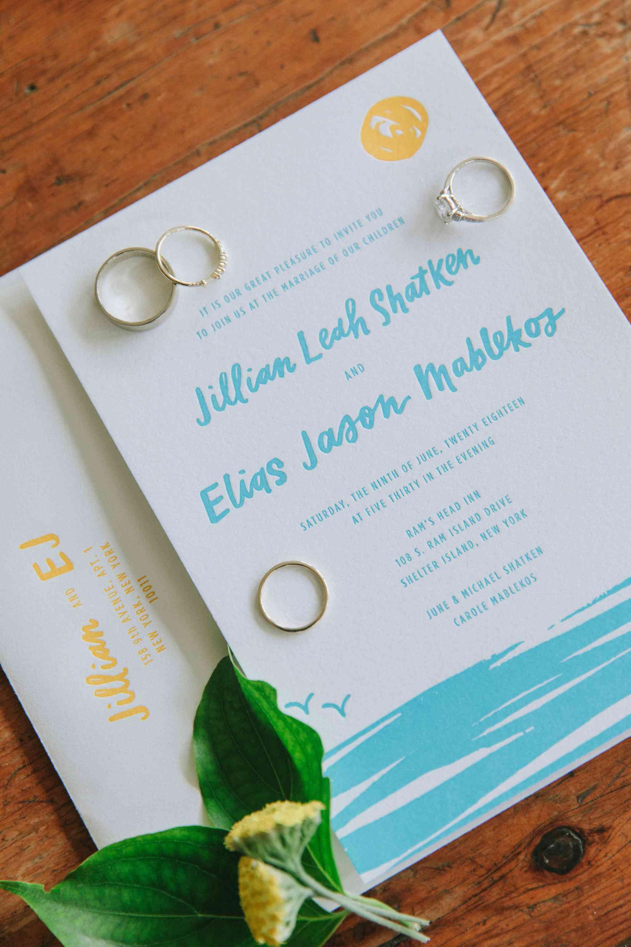 <p>beach wedding invitation</p>