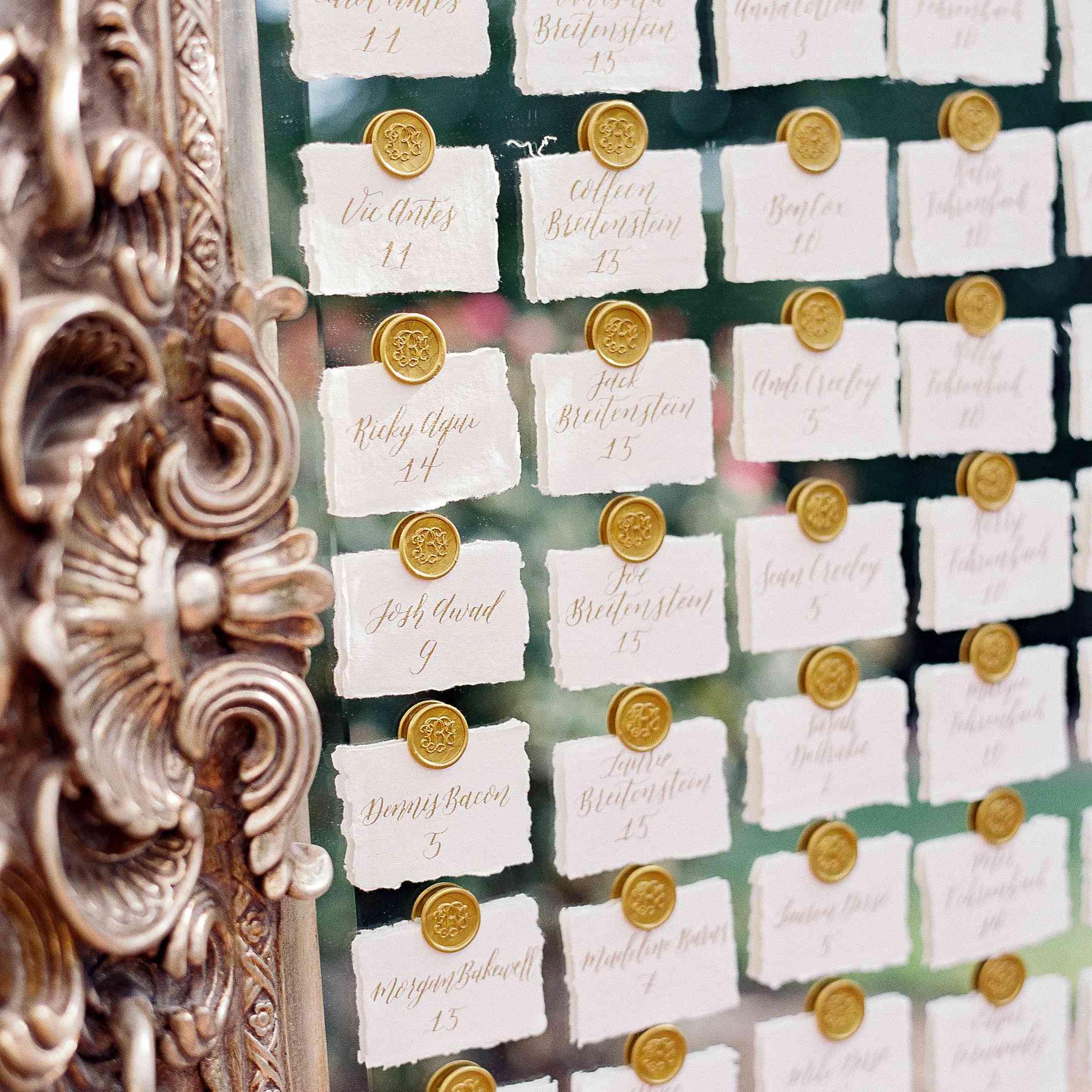 mirror escort card display