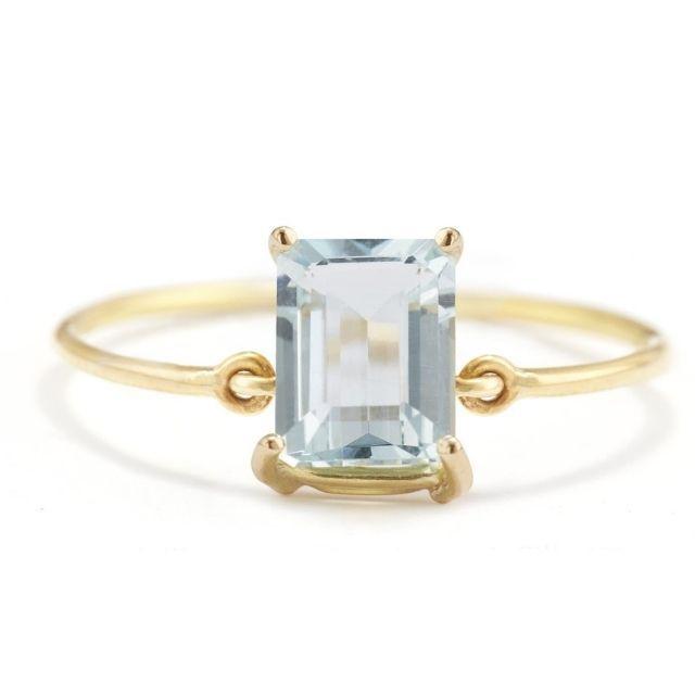 Yi Collection Aquamarine Ice Ring