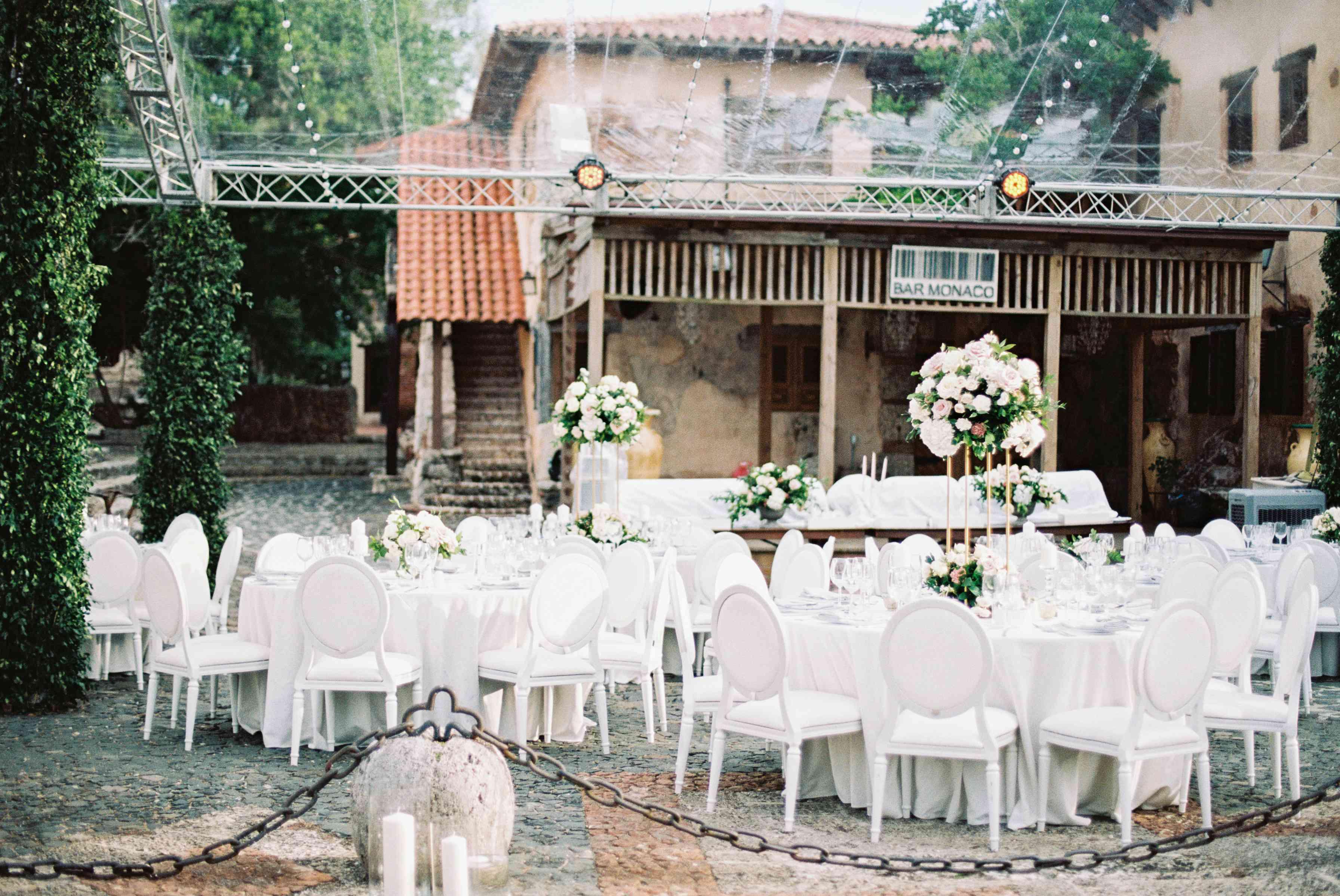 round white tables