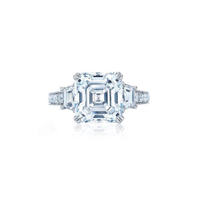 Kwiat Asscher Cut Diamond Engagement Ring