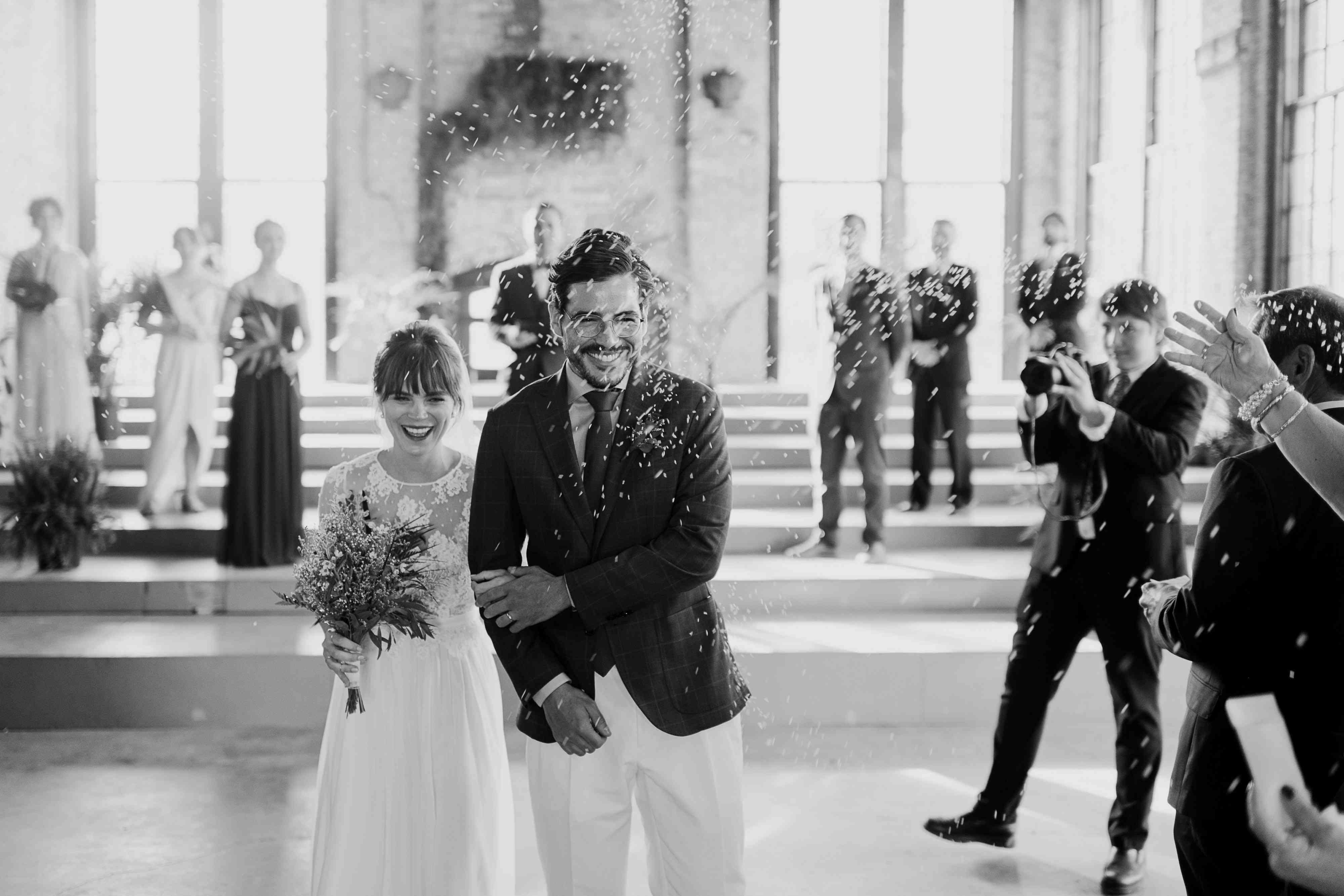 <p>ceremony exit confetti toss</p><br><br>