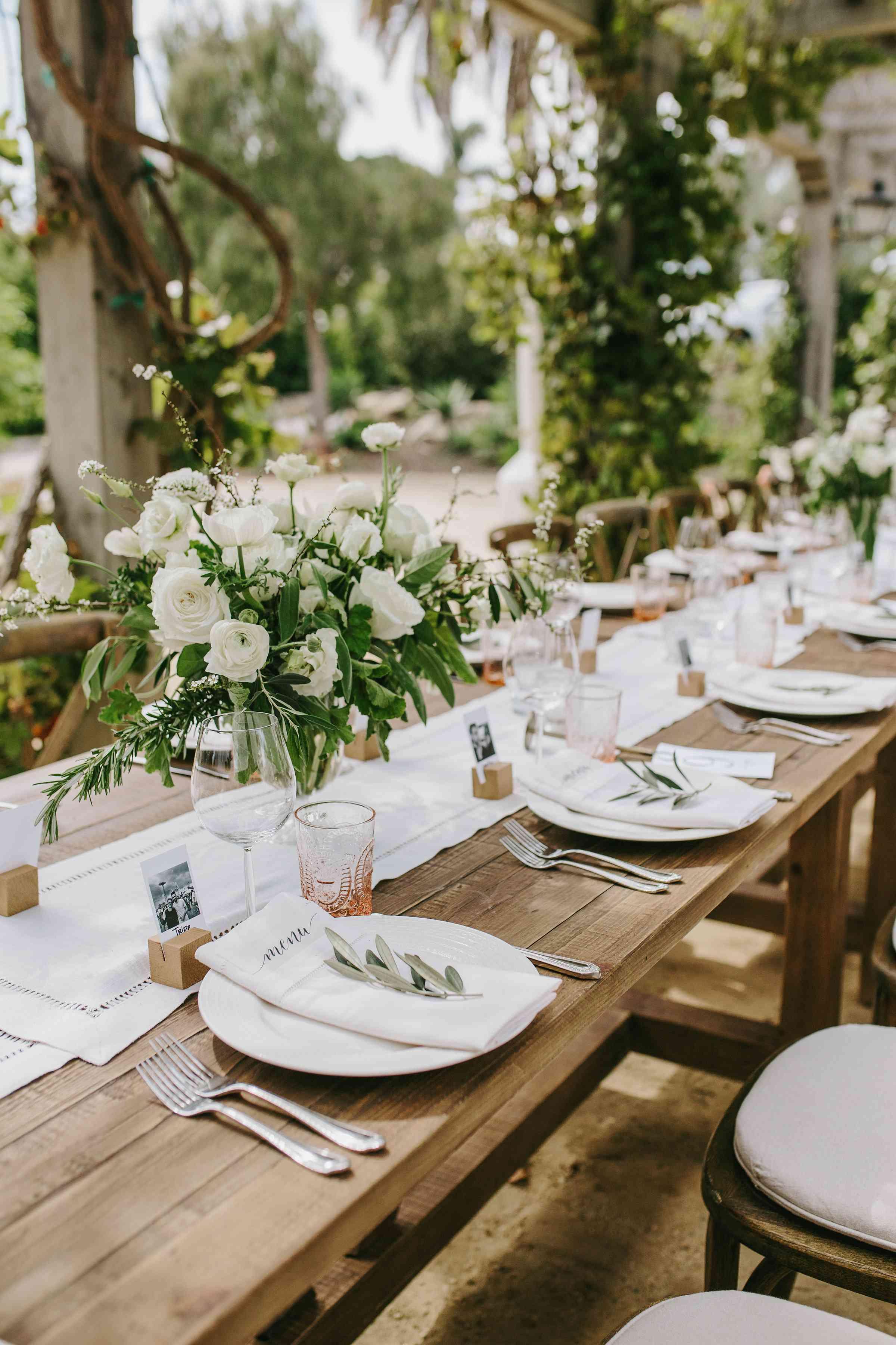 <p>tablescape photo place settings floral centerpieces</p><br><br>