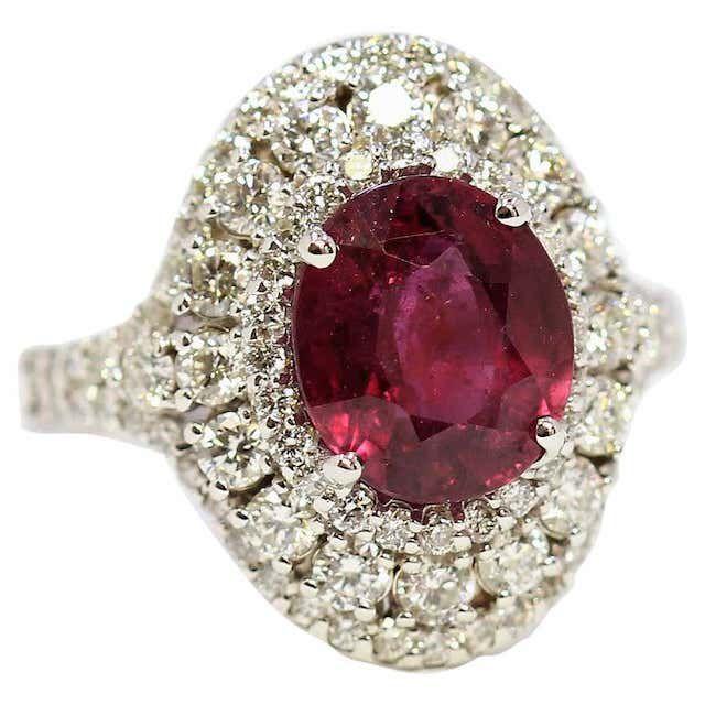1stDibs Natural Ruby 14K White Gold Ring