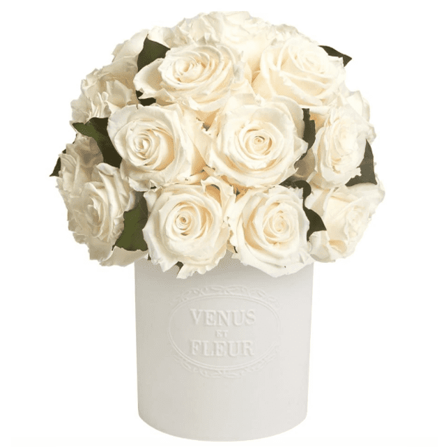 Fleura Vase with Eternity Roses and Eternity Hedera Leaves