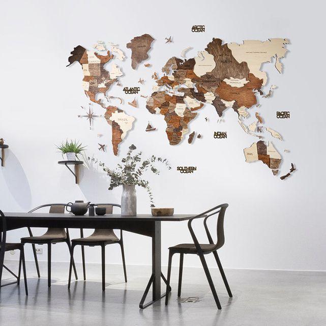 World Map Travel Wall Art