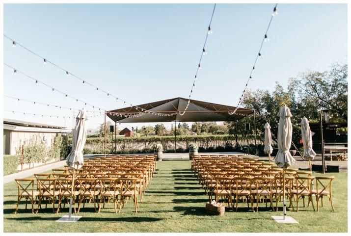Wedding setup at Long Meadow Ranch