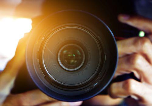 Up close camera lens