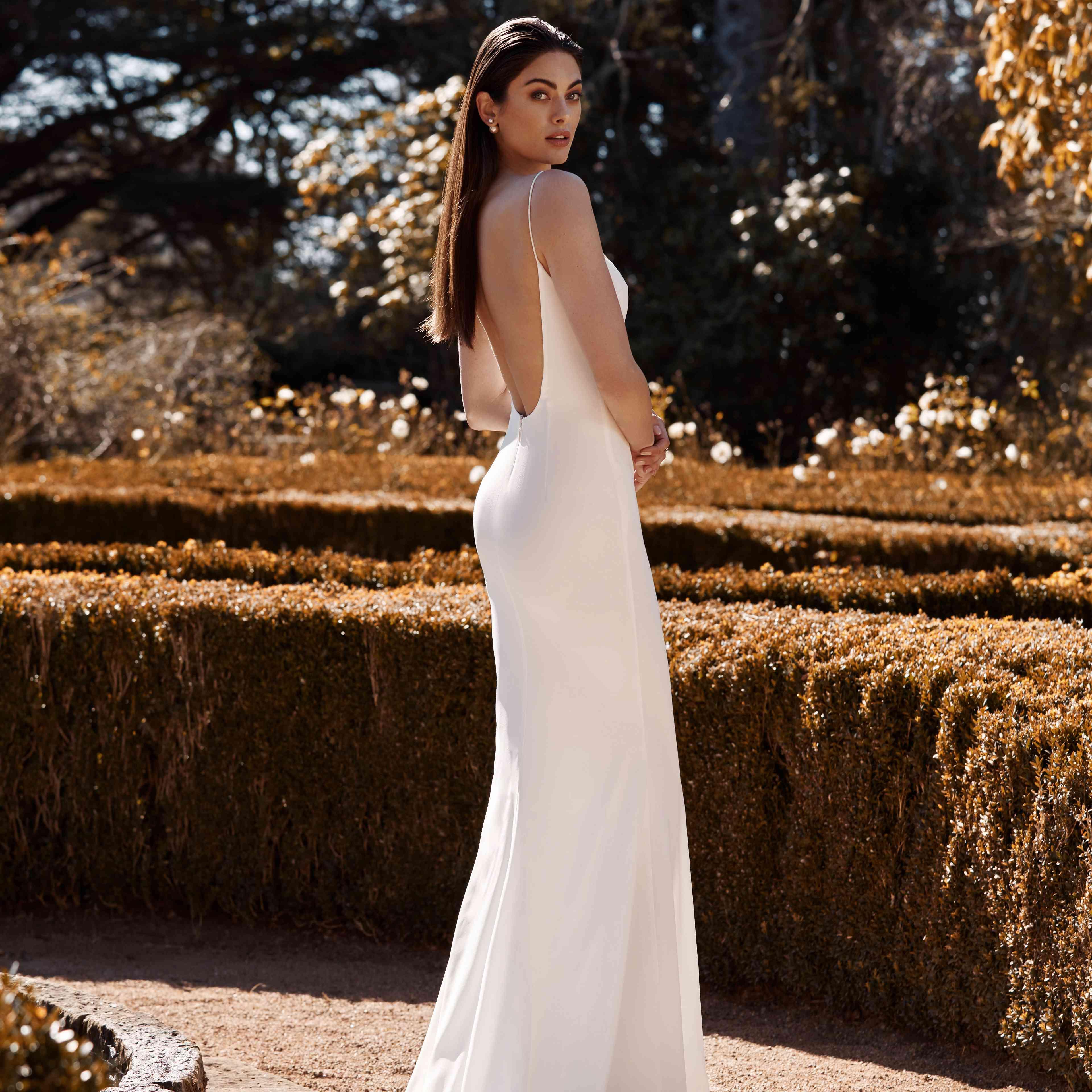 Arlo slip wedding dress
