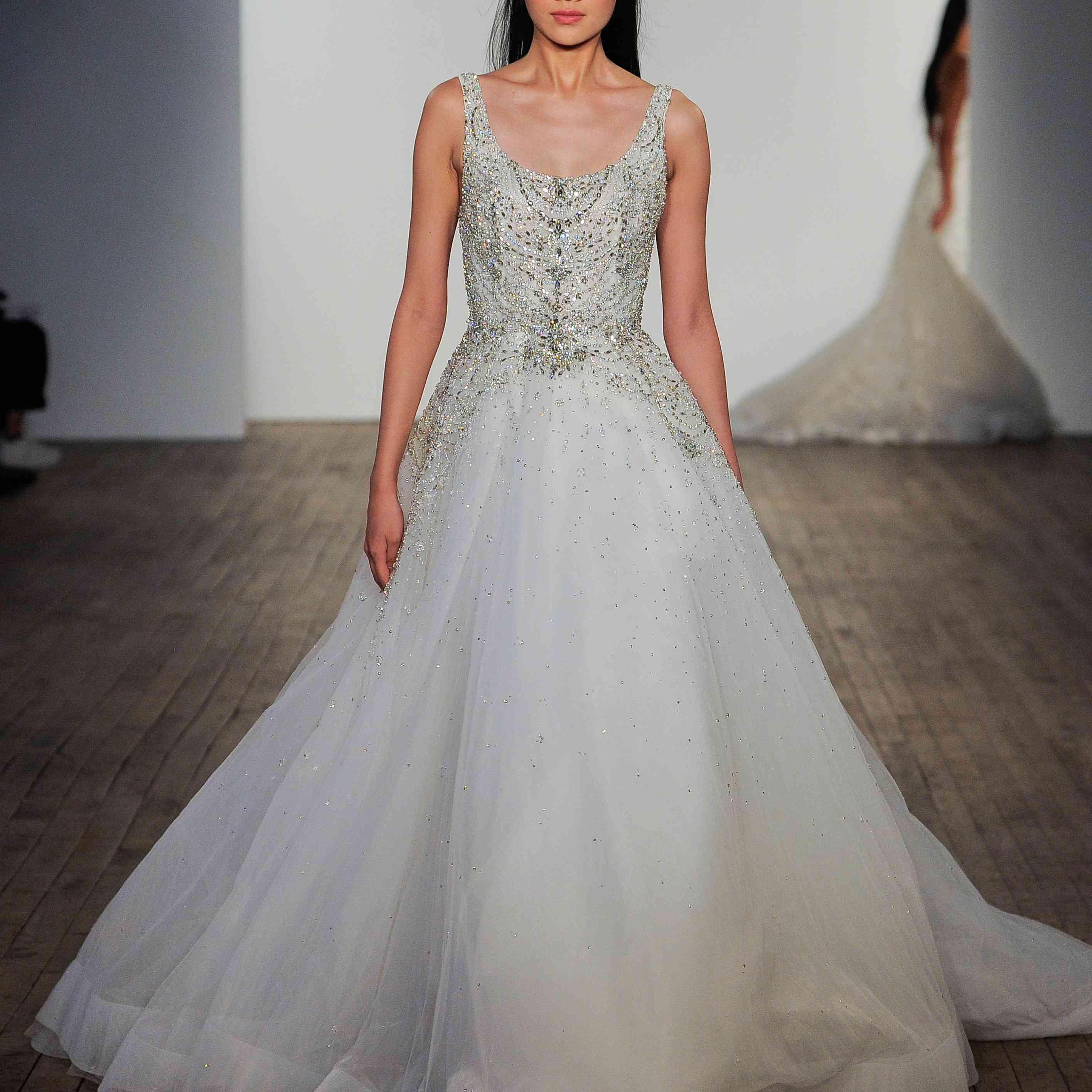 Sylvia sleeveless scoop-neck wedding dress