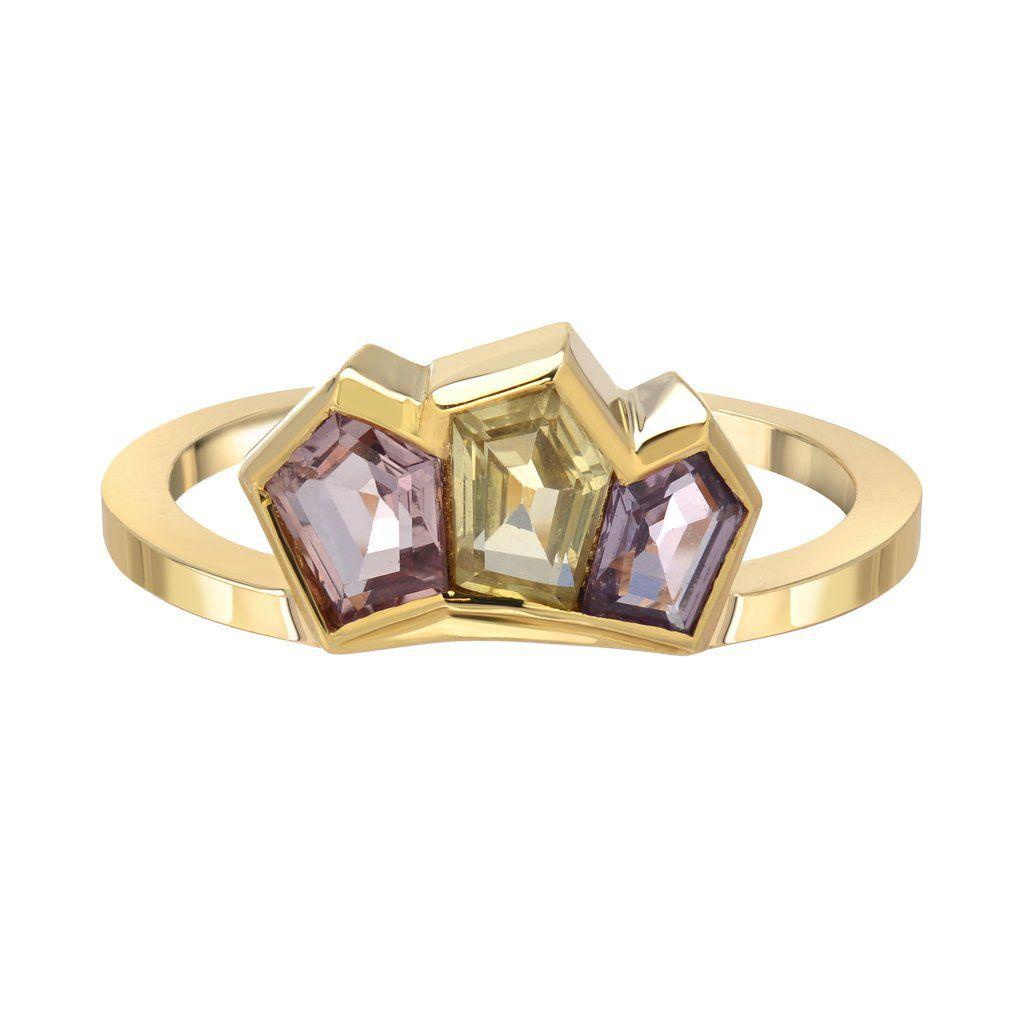 Era Jewelry Trio Sapphire Cluster Ring