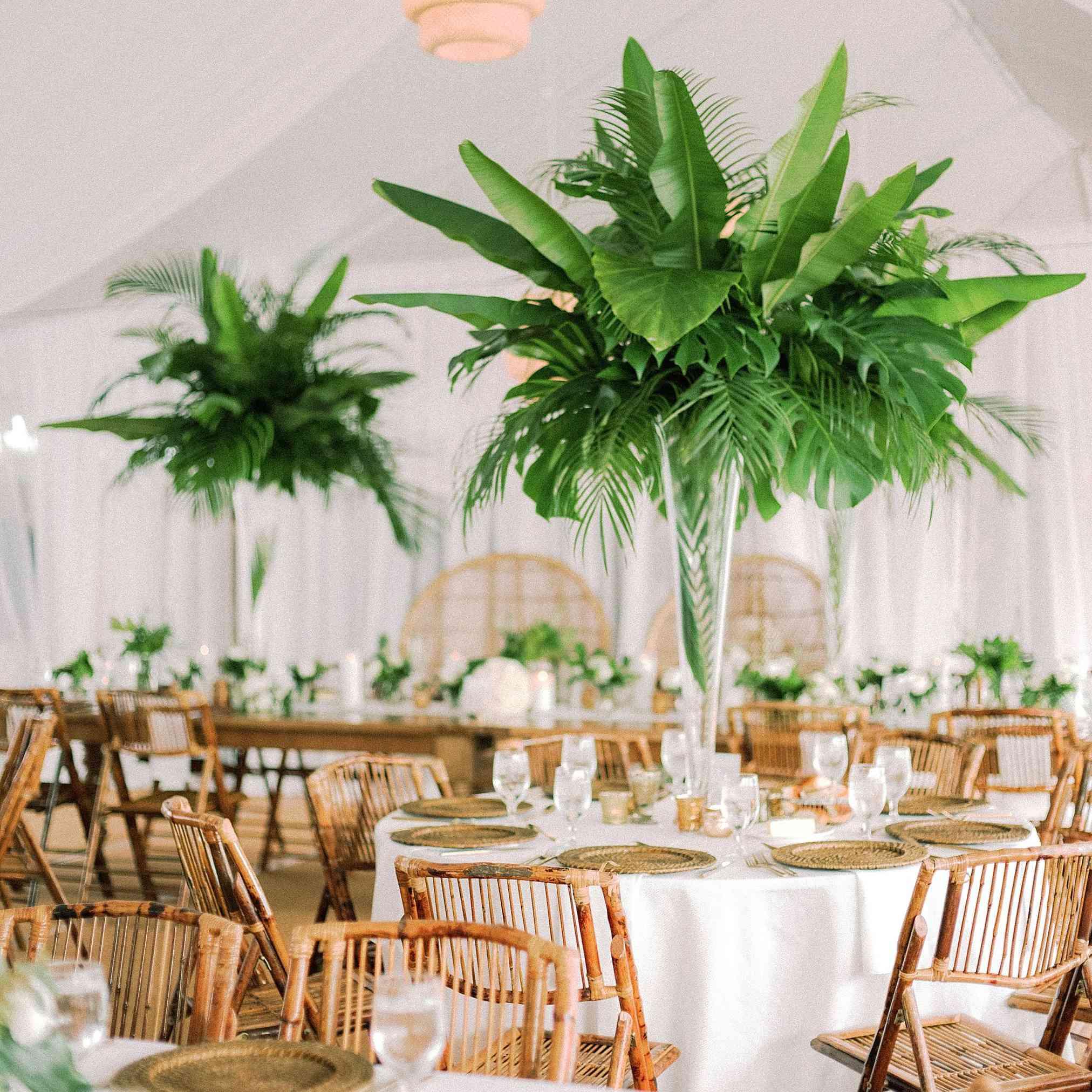 palm leaf centerpiece