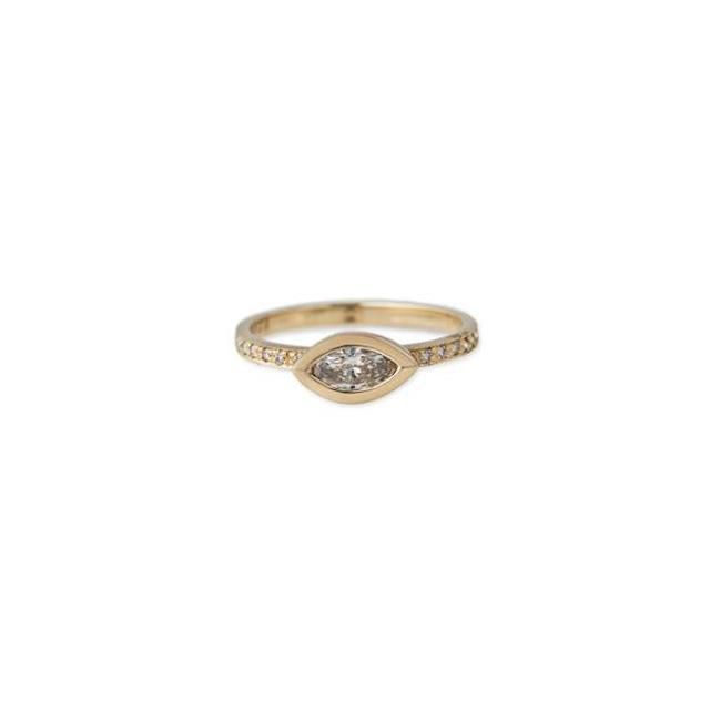Jacquie Aiche Pavé Marquise Diamond Ring