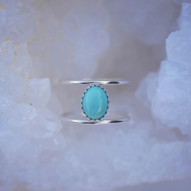 Emily Warden Designs Turquoise Cage Ring
