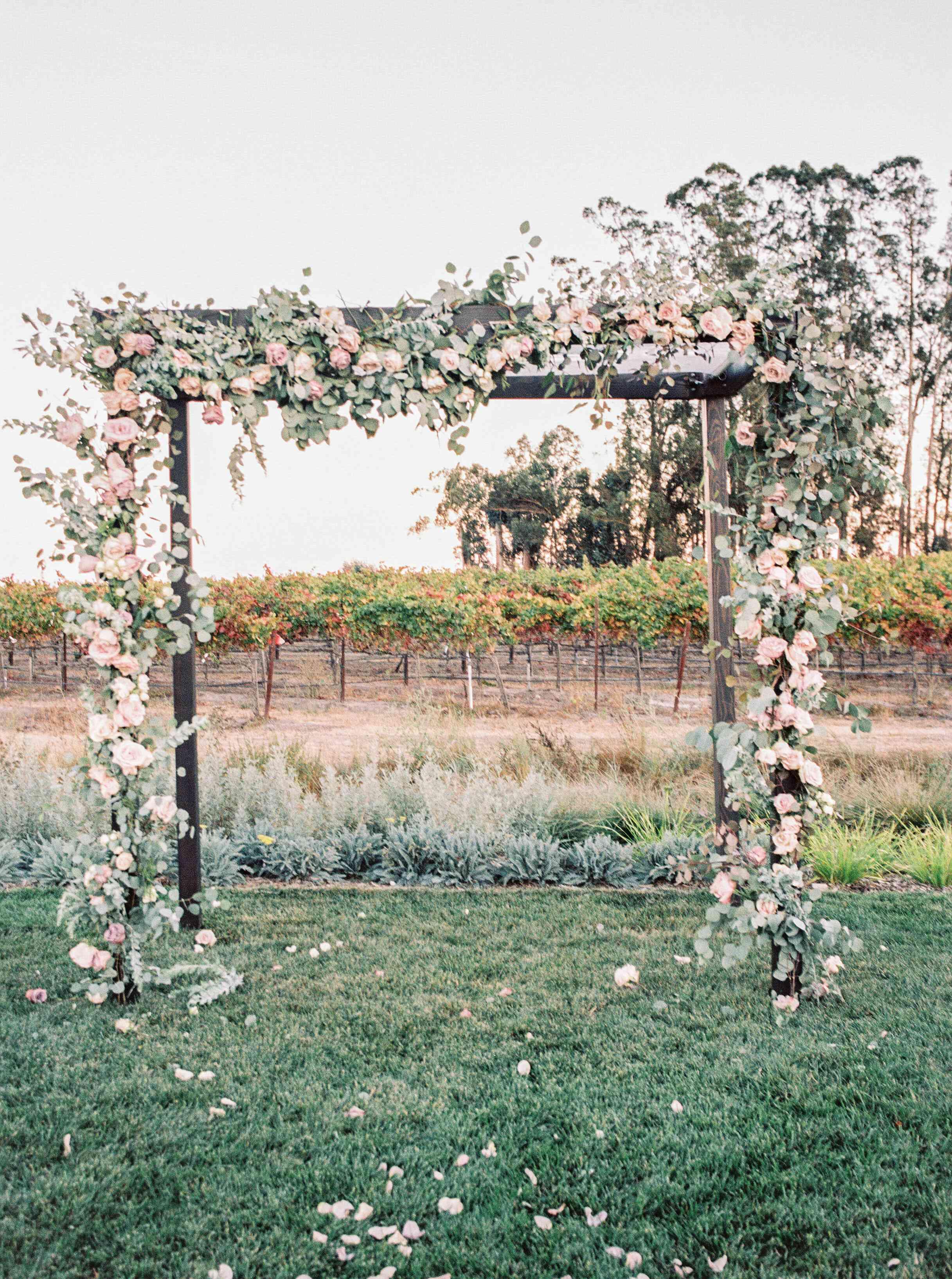 Flower-Covered Ceremony Altar