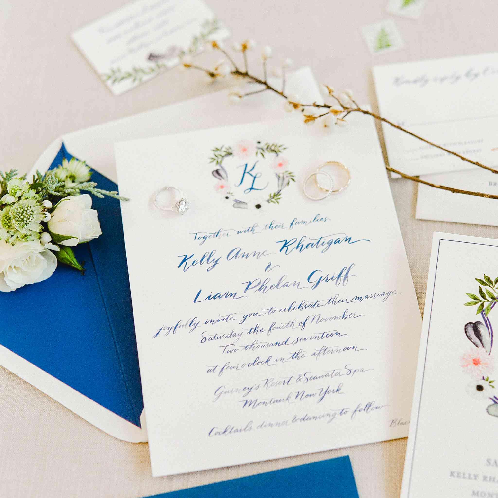 <p>water color invitation suite</p>
