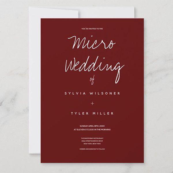 micro wedding invite