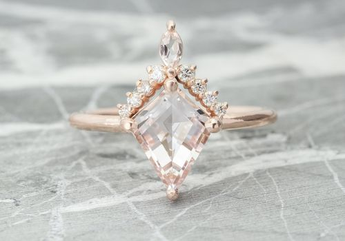 Point No Point Morganite Engagement Ring