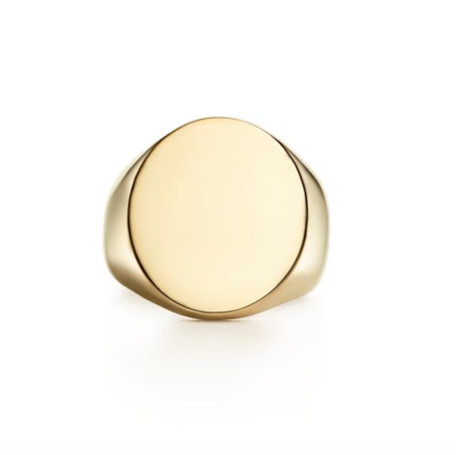 18K Gold Oval Signet Ring