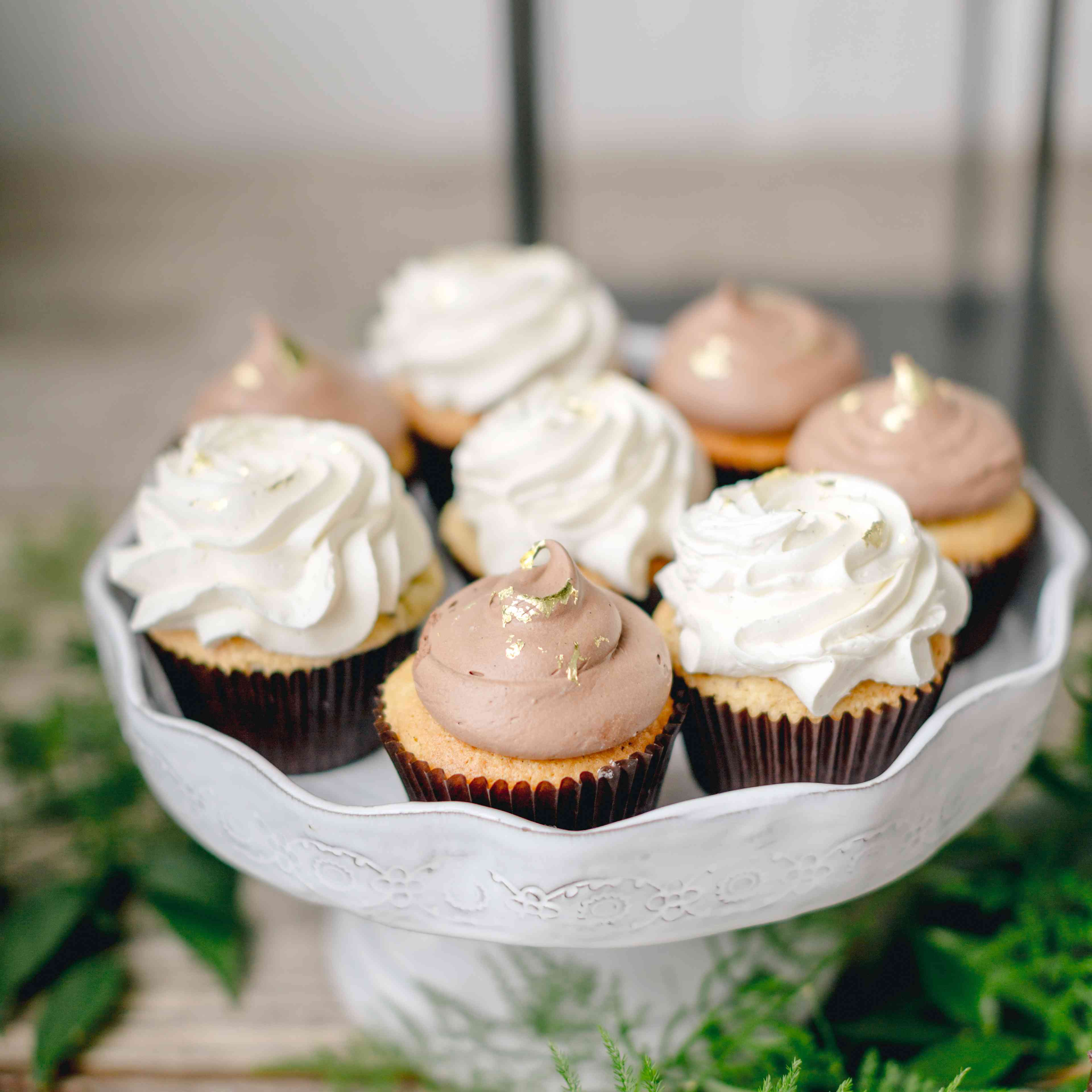 cupcakes with gold detailing