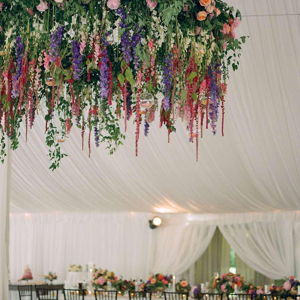 Ceiling floral arrangments