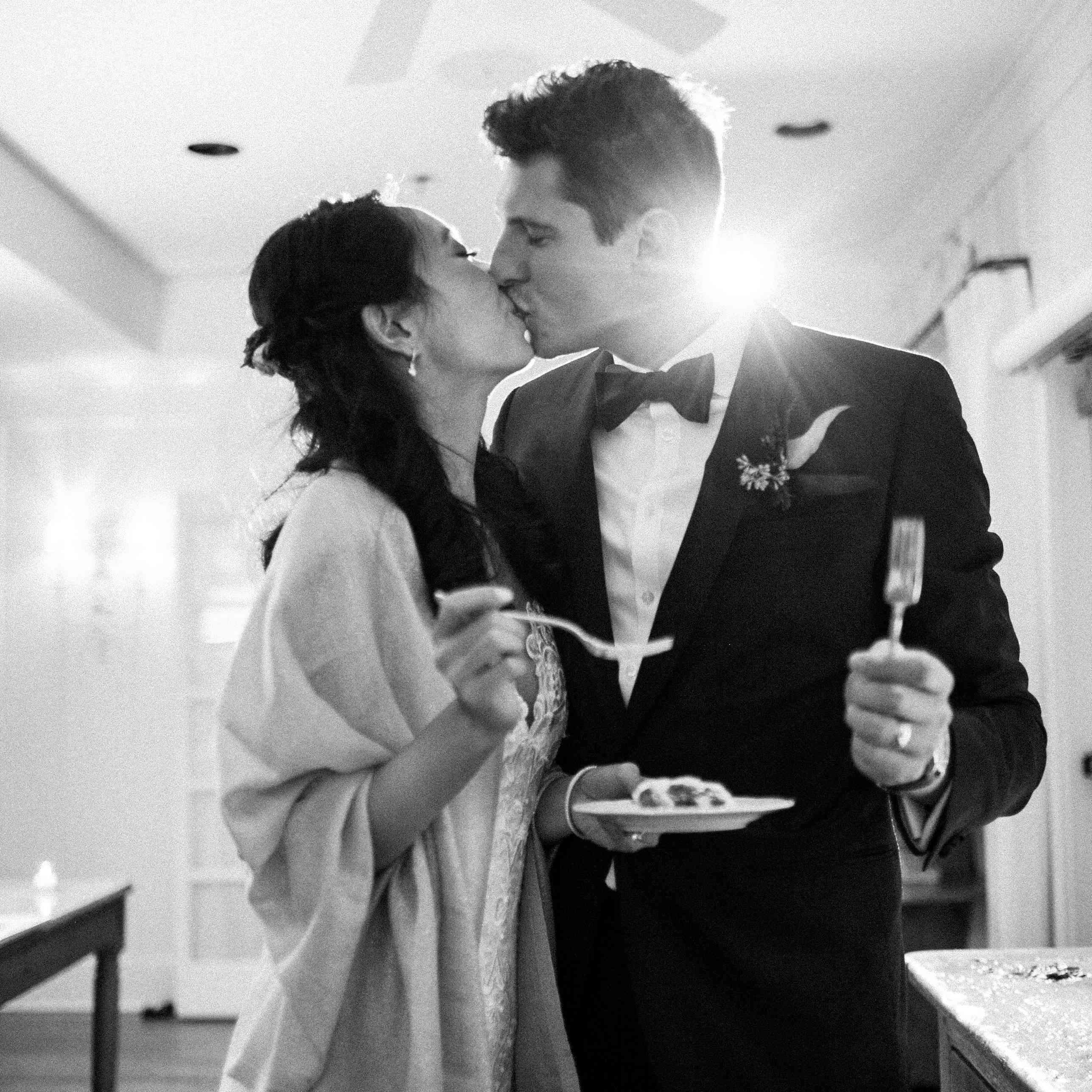 <p>eating cake kissing</p><br><br>