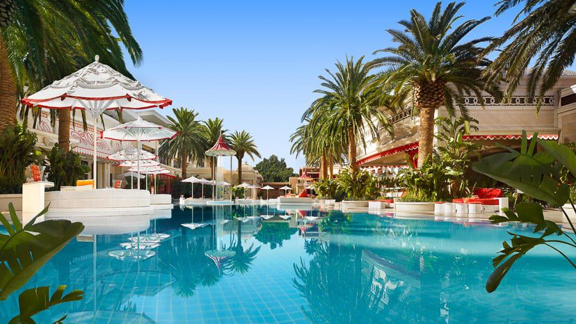 The Encore Beach Club at the Wynn Las Vegas pool area