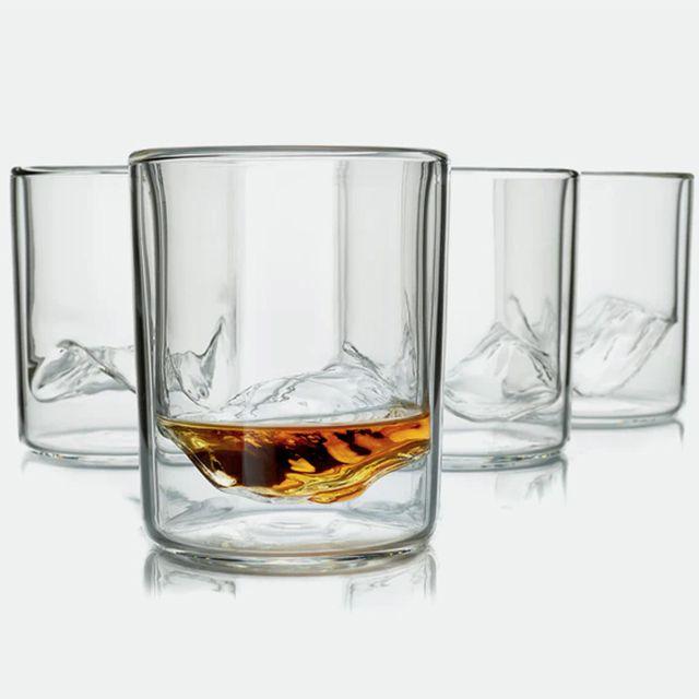 Huckberry Whiskey Peaks Glasses